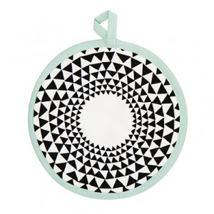 Mint Triangle Pot Holder