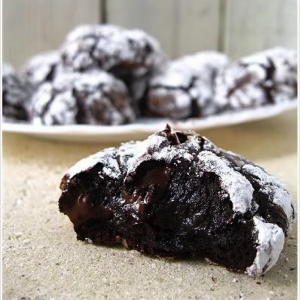 flourless dark chocolate cookies