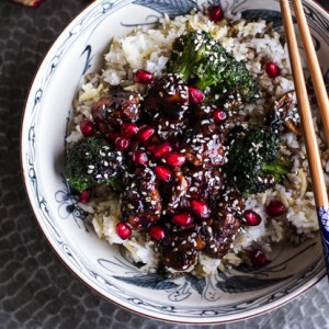 sesame chicken ginger rice