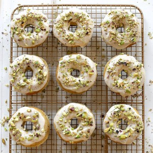Brown Butter & Pistachio Doughnuts