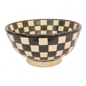 checkered small bowl side