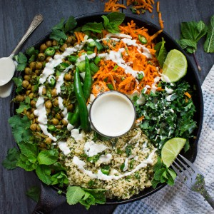 Spicy Chickpea Moroccan Couscous