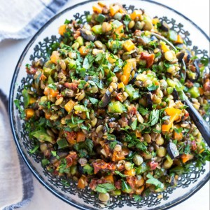 sun dried tomato lentil salad
